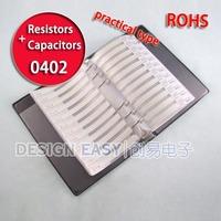 0402 smd ( resistor 63value 3300pcs ) + ( capacitor 17value 950pcs ) kit smt box