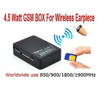 Free Shipping New 4.5 W GSM Box  for Hidden In Ear Audio Receiver wireless earpiece Kit