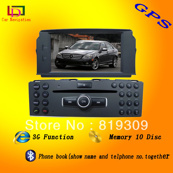 car dvd gps for mercedes benz C class C200 (W203,W204)(China (Mainland))