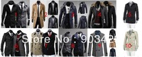 2012-2013 men's classic korean slim fit fashion design outerwear trench coats dust coat for male size M-XXL