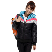 Autumn and winter sports wadded jacket thickening outerwear short design thermal cotton-padded jacket