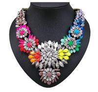 J.e.w.e.l crew FLOWER LATTICE statement NECKLACE Crystal Rainbow Bib Apolonia Necklace Neon Colorful Inspired