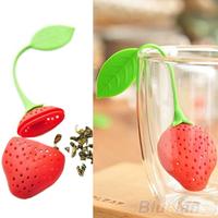 Silicone Strawberry Design Loose Tea Leaf Strainer Herbal Spice Infuser Filter Tools 0057