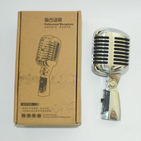 Top Quality Retra Recording Microphone  Classical Elegant Natural Sound Mic for Computer or Music Instrument Etc 1 piece