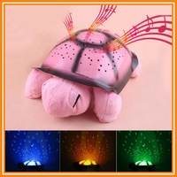 Christmas Gift Children Toys Turtle LED Night Light + USB Cable Music Lights Mini Projector 4 Colors 4 Songs Star Lamp