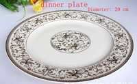 Jingdezhen ceramic export level high quality bone China dinner plate with phnom penh