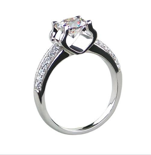Sterling Silver Diamond Wedding Band 37 Vintage Diamond ring engagement origin