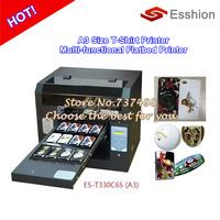Multi-purpose 6 colors A3 size DTG T-shirt printer /digital flatbed printer/Epson Direct to Garment Printer/Phone case printer