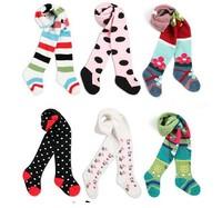 3pcs/lot Jacquard baby girl's ballet tights cotton panty hose winter leg warmers child leotard free shipping