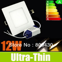 2014 Hot Seller-12W 1000LM LED Panel Lights Square Fixture Ceiling Lights SMD2835-45pcs Recessed Lamps Cool/Warm/Nature White