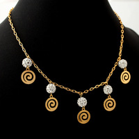New 2013 Fashion Design Jewelry Sets For Women 18K Real Gold Plated Rhinestone Pendant Earrings Bracelet Set Wholesale S389