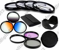 52 mm UV CPL FLD Filter Kit + Lens Hood + Cap + Macro Close Up Lenses for Nikon D50 D70 D90 D3000 D3100 D5000 D5100 D7000 52mm