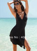 Free shipping 1 piece/lot Spa placketing plus size one-piece dress big women's sexy swimwear swimsuit beachwear hot selling