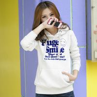 2013 autumn and winter new women's thick printed plus size pullover hoodies sweatshirts