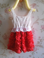 NEW ! free shipping ! Girls lace flowe girl dress , party dress,performing dress   5pcs/lot