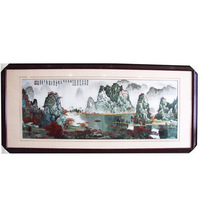 Bian embroidery landscape painting finished painting quality business gift home decoration painting