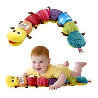 Music caterpillar newborn baby toy response paper bb device rattles, Musical Inchworm Plush Soft Toys