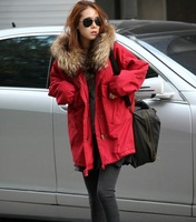 9283 warm red blue with a hood outerwear wadded jacket cotton-padded jacket