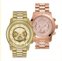 2013 Famous Brand Luxury Diamond Gold Rose Gold Steel Quartz Wrist Watch for Women Ladies /w Brand Logo Free Shipping