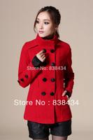 2013 winter collar double-breasted short coat female Korean Nizi female woolen jacket Slim