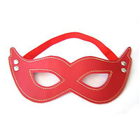 Mask sexy red leather blindages 81002