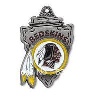 free shipping 10pcs a lot enamel antique silver single-sided Washington Redskins charms