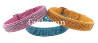 Full Rhinestone Leather Pet Dog Collars Cats Doggie Puppy Belt Collars