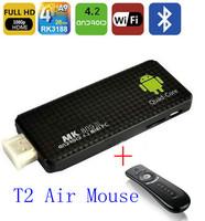 MK809III mini PC Andriod 4.2 +Quad core RK3188 Bluetooth 2GB RAM 8GB ROM android tv box + T2 air mouse HK post free shipping!