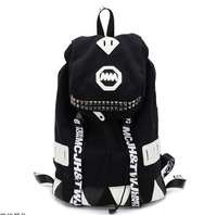 Mm backpack student school bag male women's handbag jtys laptop bag backpack