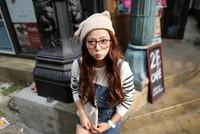 Free Shipping 1pcs Autumn Fashion Ladies' Knitted Cap Lovely Cat Ears Women Winter Warm Hat Black Beige Wholesale