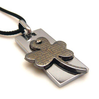 Accessories titanium alloy necklace lucky grass scripture pendant four leaf clover necklace