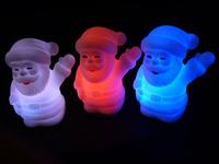 Colorful night lights Colorful Christmas Santa Claus Christmas gift gradient