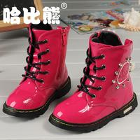 Bichon children shoes 2013 autumn and winter child snow boots