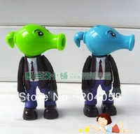 Free Shipping 2pc New Plants vs Zombies Figures Car Ornament Bullet Fired Toys Snow pea Peashooter Zombies