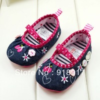 Free Shipping Baby Shoes for Girls jeans soft sole first walkers princess ballet