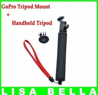 360 Degree Camera View Handheld Tripod For GoPro Camera With Tripod Mount,20-50cm Monopod Adjustable Bar Length Free Shipping