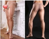 New fashion men's pants stockings, ultra-thin transparent sexy temptation to taste stockings sets, men open file pantyhose