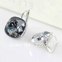 Wholesale Rhinestone Crystal Austria genuine 1144254 the fashion silver shadows of the night Ms. earrings jewelry Free shipping