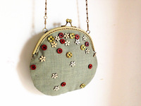2013 summer style handmade wood button small fresh exquisite little bags