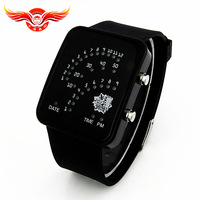 2013 the latest fashion personality Christmas gifts LED sector alloy watch for children surprise birthday gift Free shipping