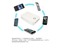 power bank  10000mah  Portable Power Bank with 1W LED light 2 USB outputs free shipping