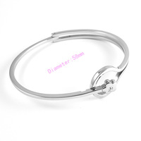 2014 New Year Women's Romantic 316L Stainless Steel FLOWER Bangle Bracelet