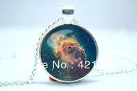 10pcs/lot Galaxy Necklace, Nebula Jewelry, Stars And Universe Hipster Space Pendant  8
