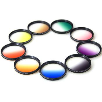 Gradient filter set 52mm gray gradient mirror gnd G blue nd filter bag