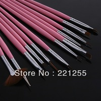 12 set pen nail art professional pigment painting flower pen chromophous rod