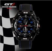 2013 F1 Grand Touring GT Men Sport Quartz Watch Military Watches Army Japan PC Movement Wristwatch Fashion Men's Watches WTH04