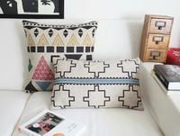 2PCS/LOT American Bohemian exotic graphics Linen cushion cover cotton pillow cushion pillow cushions home decor sofa cushions