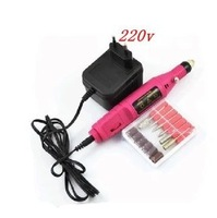 1Set Pedicure Bits 20000RPM Electric Nail Drill art Pen Professional Electric Manicure Machine 100V~240V EU Plug Free shipping