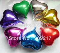 "10"" Heart Shape Helium Foil Balloons Holidays Party Supply Decor Mix Color 50 pcs / lot"