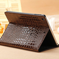New Arrival Stand Cover Case for Apple iPad Air, 9.7 inch,High Quality Fashion Slim Crocodile Leather  Case for Apple iPad Air